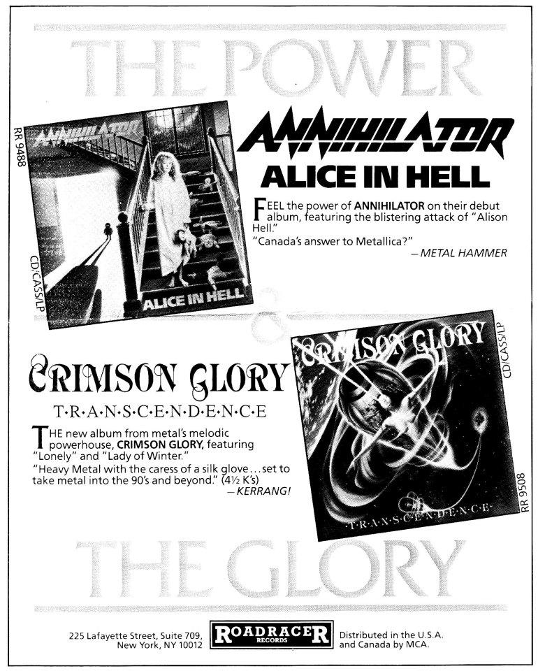 Annihilator & Crimson Glory