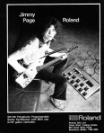 Jimmy Page - Roland Ad