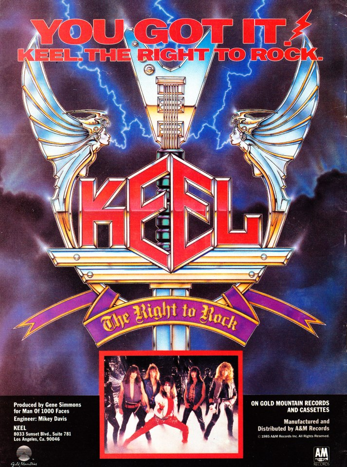 KEEL - The Right to Rock! Ad