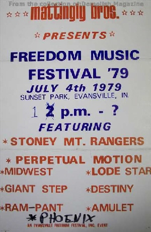 1979 AMULET - Rare Freedom Festival show flyer