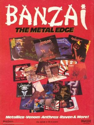 80's Banzai Records Ad