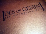 Ides of Gemini - The Disruption Writ (EP) - Writer J. Bennett