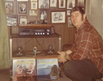 My awesome dad w/stereo!