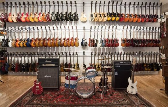 guitar-wall (ultimate man cave) Chicago Music Exchange