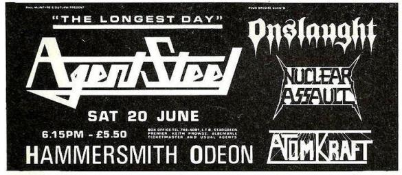 Hammersmith Odeon Flyer